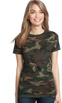 District Made Women's Perfect Weight Camo Crew Tee XS