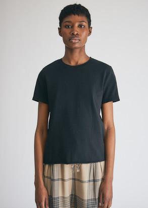 Raquel Allegra Women's Boy T-Shirt in Black, Size 0 | 100% Cotton