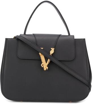 Versace Virtus top handle tote