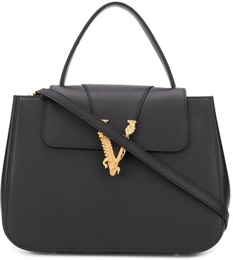 Versace Virtus top handle tote