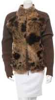 Roberto Cavalli Fur-Trimmed Wool Jacket