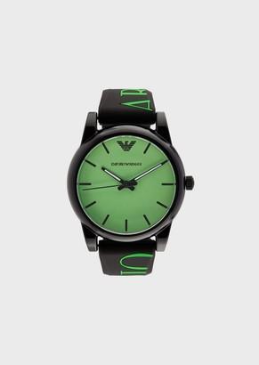 Emporio Armani Logoed Silicone Watch