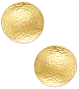 Gurhan Sterling Silver & 24K Yellow Gold Large Round Concave Earrings