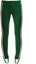 Gucci Contrast-stripe stirrup-hem leggings