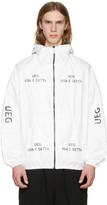 Ueg White Tyvek® Logo Hooded Jacket