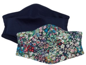 Echo Cotton Solid & Ditsy Floral-Print Face Mask 2pc Set