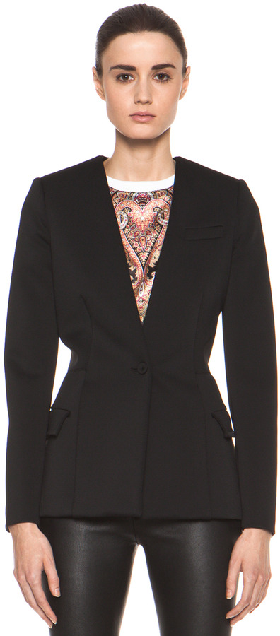 Givenchy Jersey Technique Blazer in Black