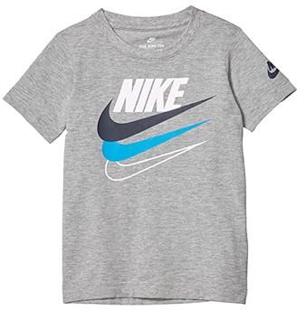 Nike Kids Short Sleeve Logo Graphic T-Shirt (Little Kids) (Dark Grey Heather) Boy's Clothing