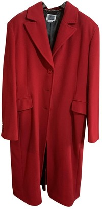 Krizia Red Wool Coats