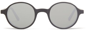 L.g.r Sunglasses - Reunion Explorer Round Acetate Sunglasses - Black Grey