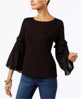 INC International Concepts Bell-Sleeve Top, Created for Macy's
