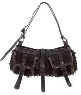 Burberry Eyelet & Scallop-Trimmed Bag