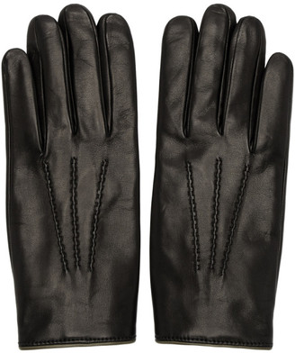 Dolce & Gabbana Black Cashmere Lined Gloves