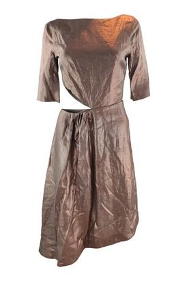 Isa Arfen Metallic Linen Dresses