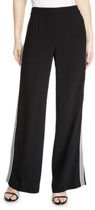 Nanette Lepore Boogie Wide-Leg Trouser Pant with Striped Sides
