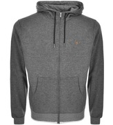 Farah Hicks Full Zip Hoodie Grey