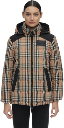 Burberry CHECKED TECHNO DOWN JACKET