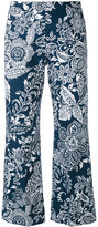 Fay printed cropped trousers - women - Cotton - 38