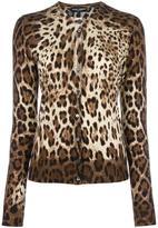 Dolce & Gabbana leopard print cardigan - women - Silk/Cashmere - 40
