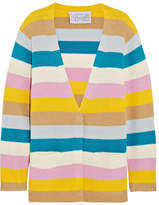 Victor Glemaud - Striped Cashmere Cardigan - Yellow