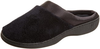 Isotoner Women's Microterry Pillowstep Satin Cuff Clog Slippers