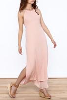 Solemio Pink Halter Maxi Dress