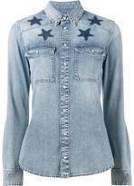 Givenchy star-printed denim shirt - women - Cotton - 38