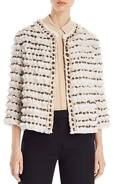 Maximilian Furs x Julia & Stella Woven Mink, Lamb & Rabbit Fur Jacket - 100% Exclusive