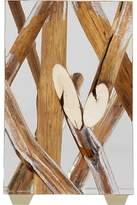 Bleu Nature Kisimi Metallic Driftwood-Inset Acrylic Objet d'Art