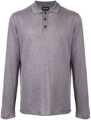 Giorgio Armani Long-Sleeved Polo Shirt