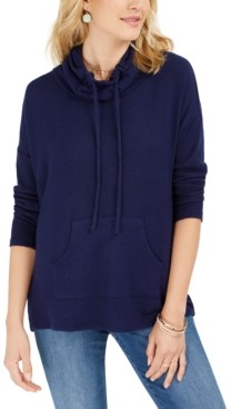 Style&Co. Style & Co Drawstring Cowl-Neck Sweater, Created For Macy's
