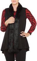 Allison Daley Petites Faux Fur Shawl-Collar Open Front Vest