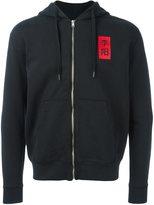 Yang Li Chinese print zipped hoodie
