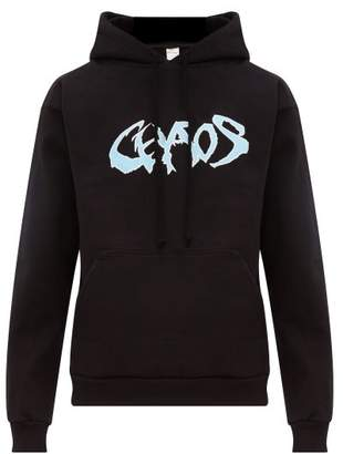 Noon Goons Chaos Print Cotton Hooded Sweatshirt - Mens - Black