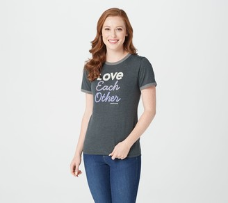 Life is Good Short Sleeve Ringer Cool Tee