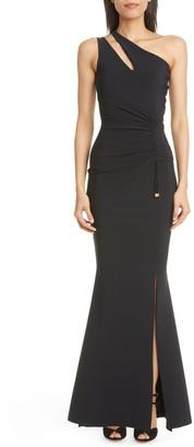 Chiara Boni Costanza One-Shoulder Trumpet Gown