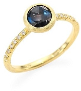 Marco Bicego Jaipur London Diamond & Blue Topaz Ring