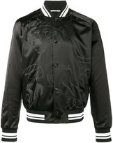 Valentino Black panther bomber jacket - men - Cotton/Polyamide/Polyester/Viscose - 46