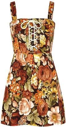 Zimmermann Bonita floral-print linen mini dress