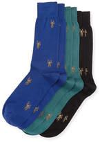 Paul Smith 3-Pack Monkey Socks, Multicolor