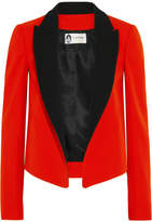 Lanvin Two-tone Wool-twill Tuxedo Jacket - Red