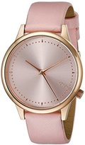 Komono Women's KOM-W2500 Estelle Pastel Series Rose Gold-Tone Watch with Pink Leather Band