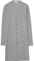 Uniqlo Women Merino Blend Ribbed V-Neck Cardigan
