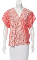 Bottega Veneta Striped V-Neck Top