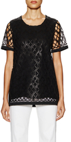Derek Lam Short Sleeve Lace T-Shirt