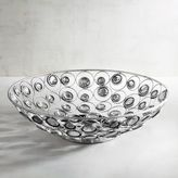 Pier 1 Imports Metal Decorative Bowl with Clear Gems