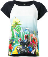 Paul Smith bird print T-shirt - women - Silk/Modal - S