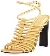 Sigerson Morrison Ilyssa Metallic Strappy Sandal