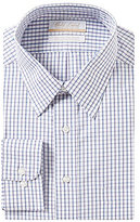 Roundtree & Yorke Gold Label Big & Tall Non-Iron Regular Full-Fit Point Collar Checked Dress Shirt