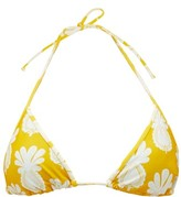 La DoubleJ Pineapple-print Triangle Bikini Top - Womens - Yellow Print